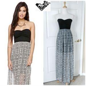 Roxy Aztec print strapless maxi dress sz M